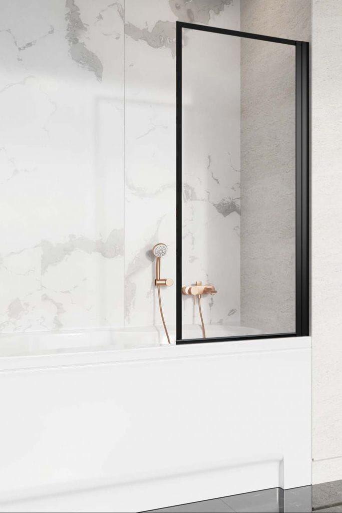 Radaway parawan nawannowy Nes 8 Black PNJ Frame 50 cm prawy, szkło przejrzyste-frame, wys. 150 cm 10061050-54-56R
