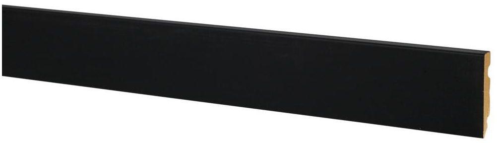 Listwa przypodłogowa FU84 Czarny mat 80 mm