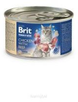 Brit Premium by Nature Cat Chicken with Beef Kurczak Wołowina 200 g