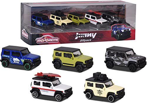 Majorette 212053177 Suzuki Jimny 5 sztuk opakowanie prezentowe, wielokolorowe