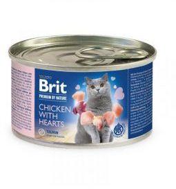 Brit Premium by Nature Cat Chicken with Hearts Kurczak Serca 200 g