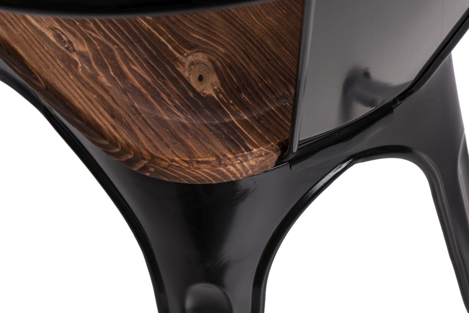 D2 Krzesło Paris Arms Wood czarny sosna