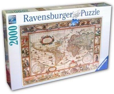 Ravensburger - Puzzle Mapa świata 2000 el. 166831
