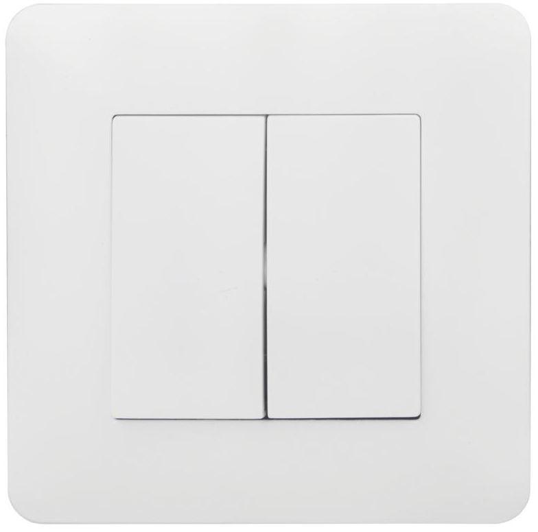 Włącznik schodowy podwójny ARTEZO biały HBF
