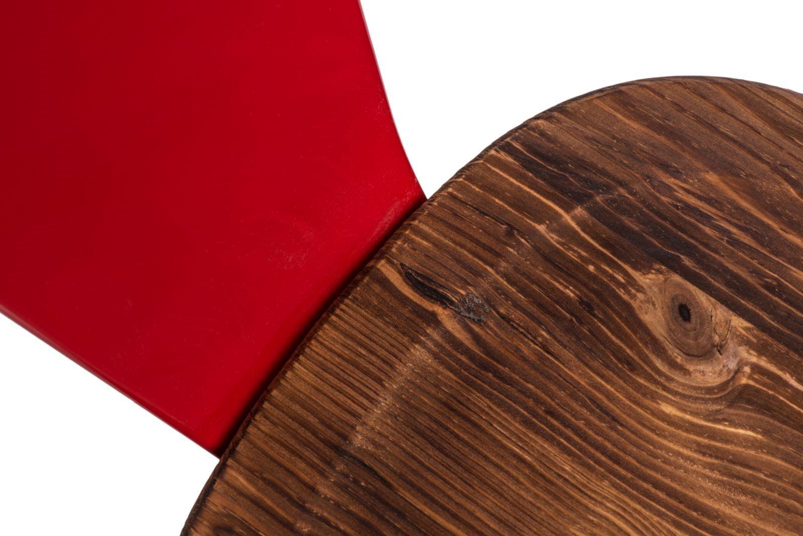 D2 Krzesło Paris Arms Wood czerwony sosna