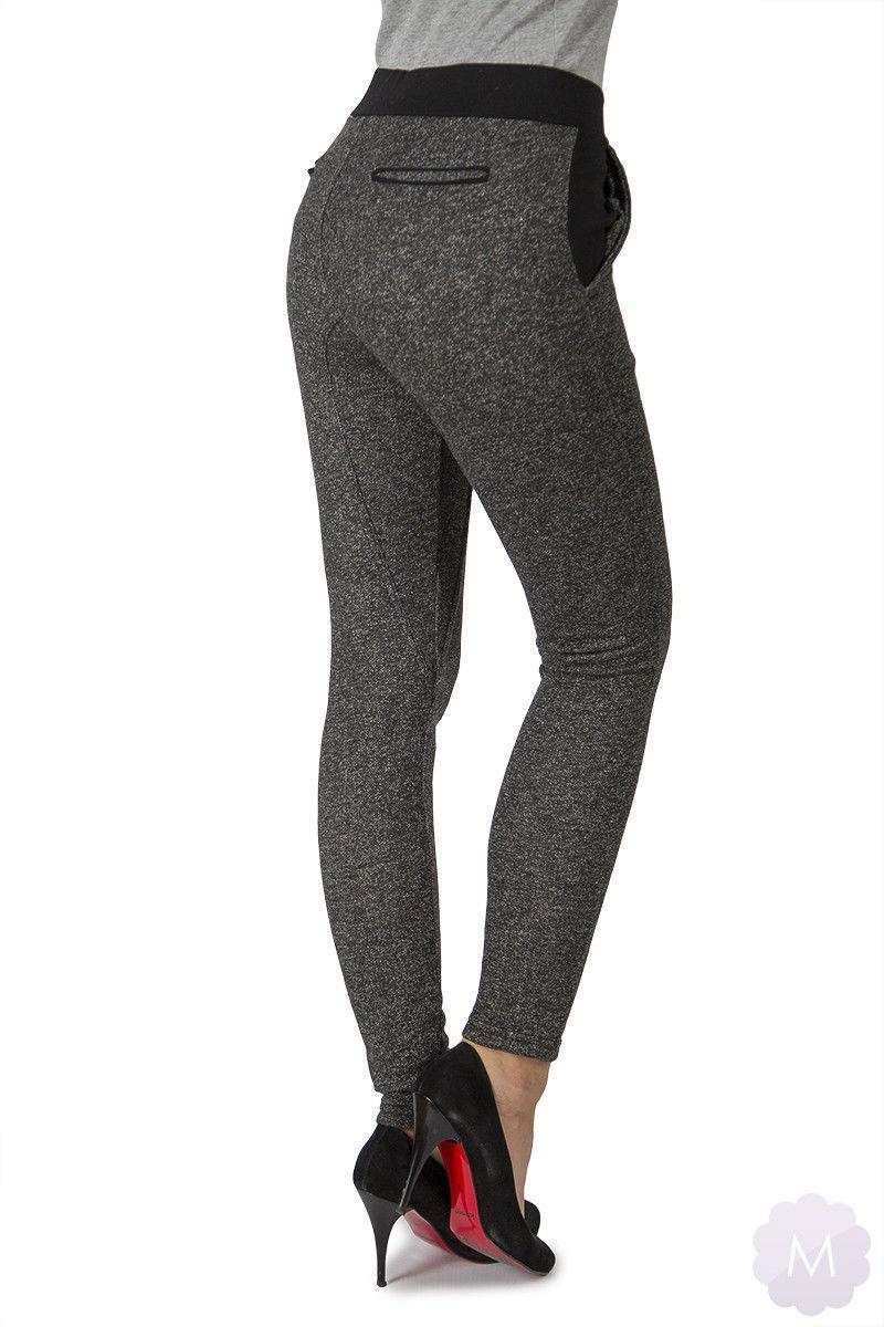 Elastyczne damskie spodnie chinosy rurki (XD3064)