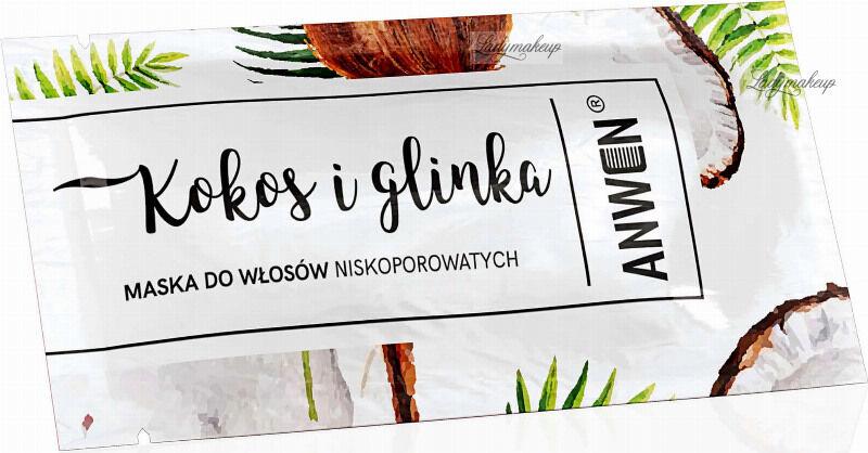 ANWEN - Kokos & Glinka - Maska do włosów niskoporowatych - 10 ml