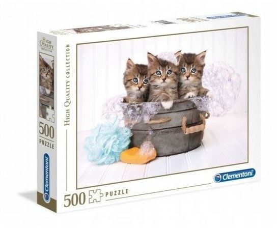 Puzzle 500 HQ Kittens and soap