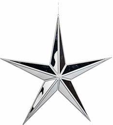 EUROCINSA Ref.27009 gwiazda zawieszka lustro białe 38 cm 4 sztuki rozmiar uniwersalny