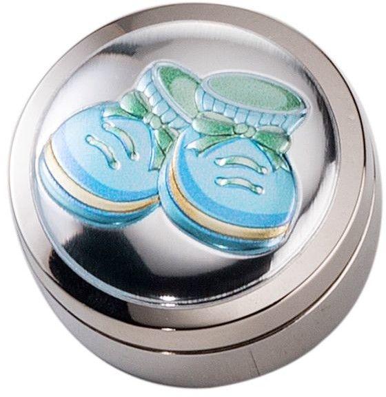 Pudełeczko na pierwszy ząbek Rozmiar: Fi 4 cm Kolor: Niebieski SKU: VL21157C