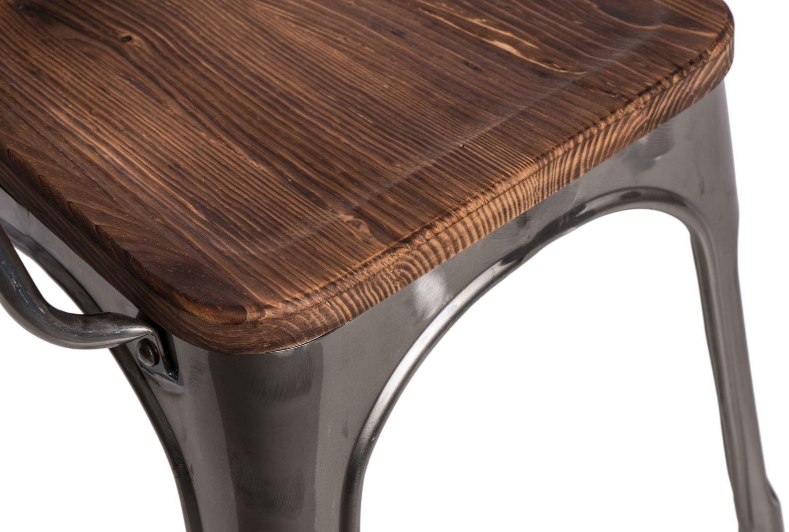 D2 Krzesło Paris Arms Wood metaliczny sosna