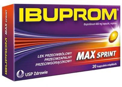 Ibuprom Max Sprint 400mg 20 kapsułek