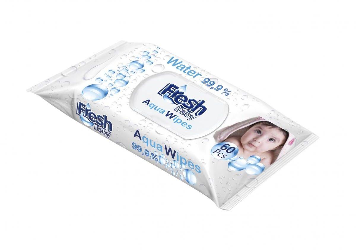 Fresh Baby Aqua Wipes chusteczki 99,9% 60szt