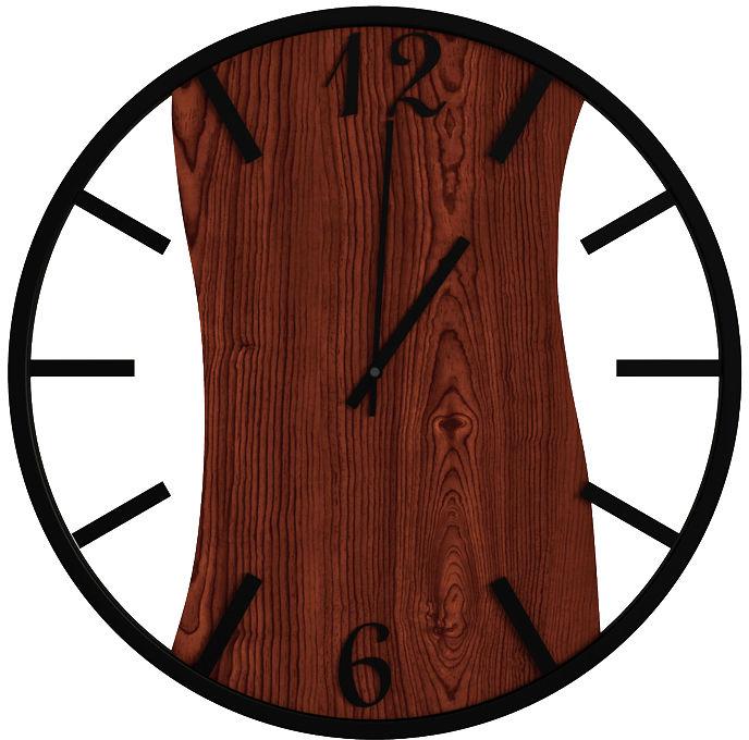 Zegar na ścianę w kolorze palisandru - Solaris