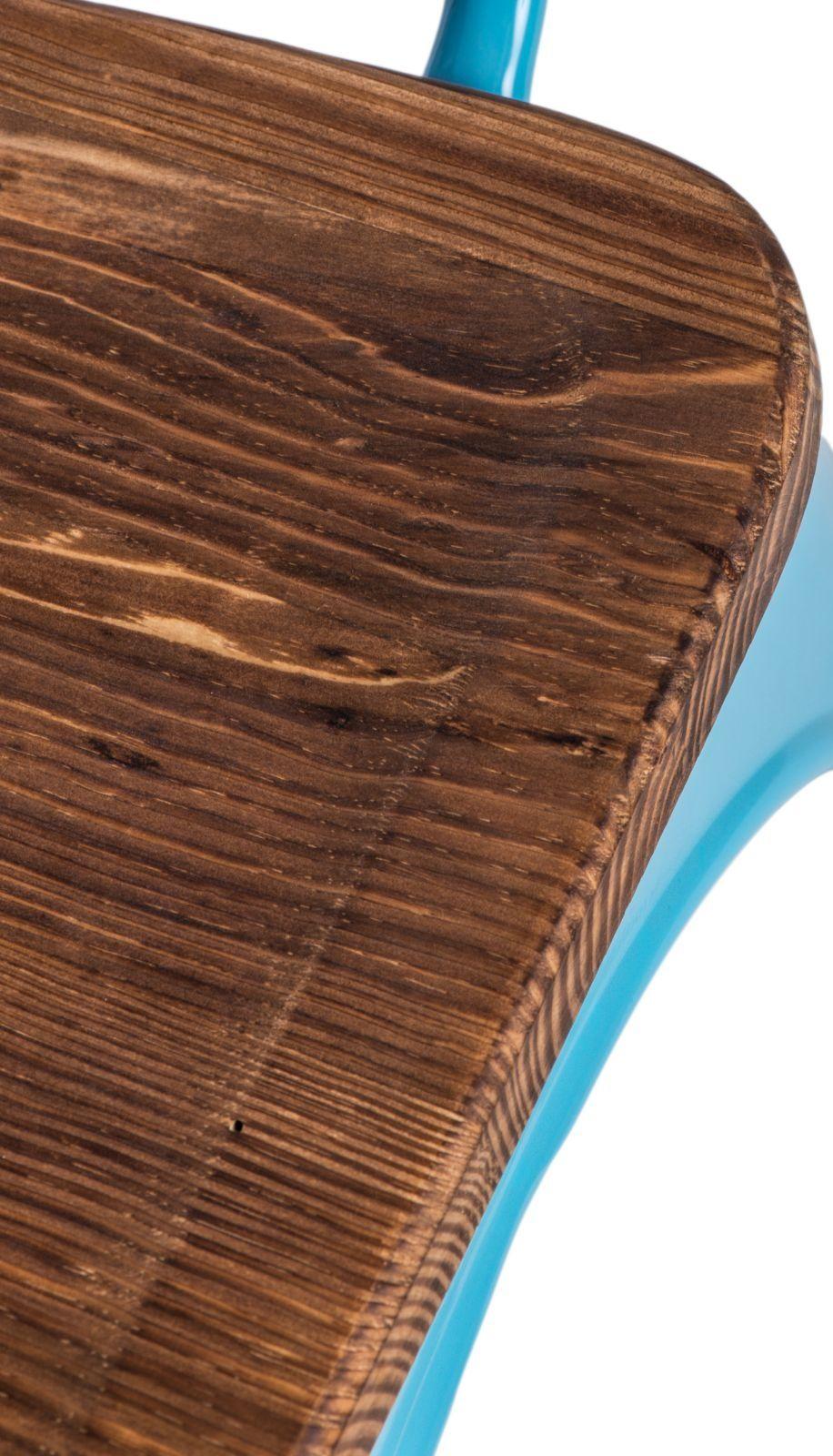D2 Krzesło Paris Arms Wood niebieski sosna