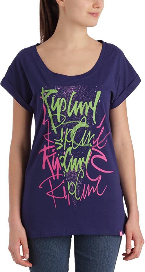 Rip Curl Pacanajas koszulka damska z logo Niebieski druk L