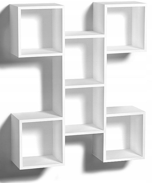 Biała wisząca półka w stylu skandynawskim - Anika
