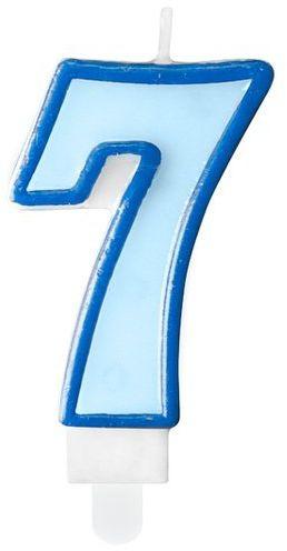 Świeczka cyferka 7 niebieska SCU1-7-001