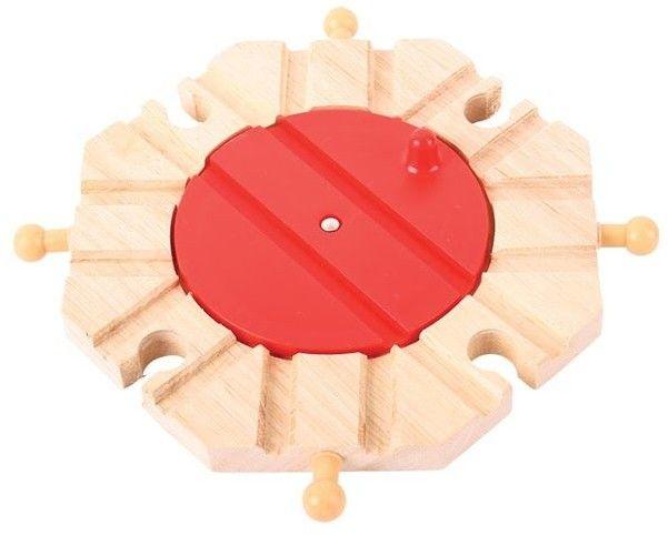 Obrotnica na 8 torów do kolejki drewnianej