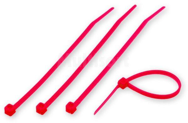 Opaski zaciskowe czerwone 100x2,5mm