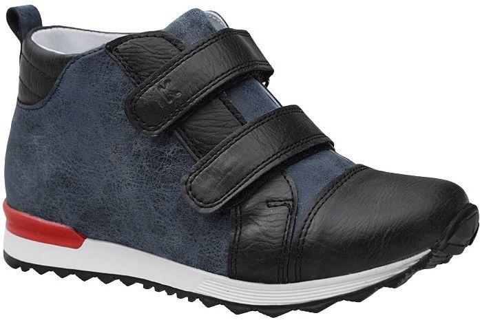 Trzewiki KORNECKI 4933 Granatowe na rzepy nieocieplane Sneakersy