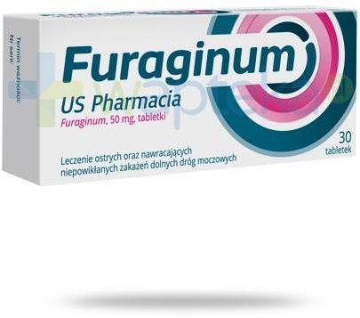 Furaginum US Pharmacia 50mg leczenie zakażeń dróg moczowych 30 tabletek