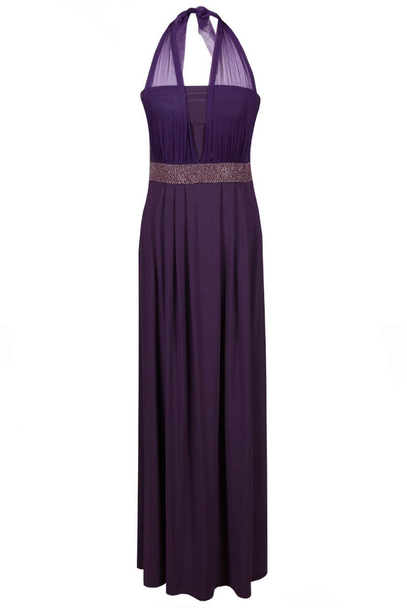 Sukienka FSU111 ŚLIWKOWY
