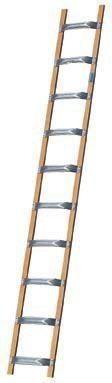 Drabina dachowa aluminiowo-drewniana 12 szczebli