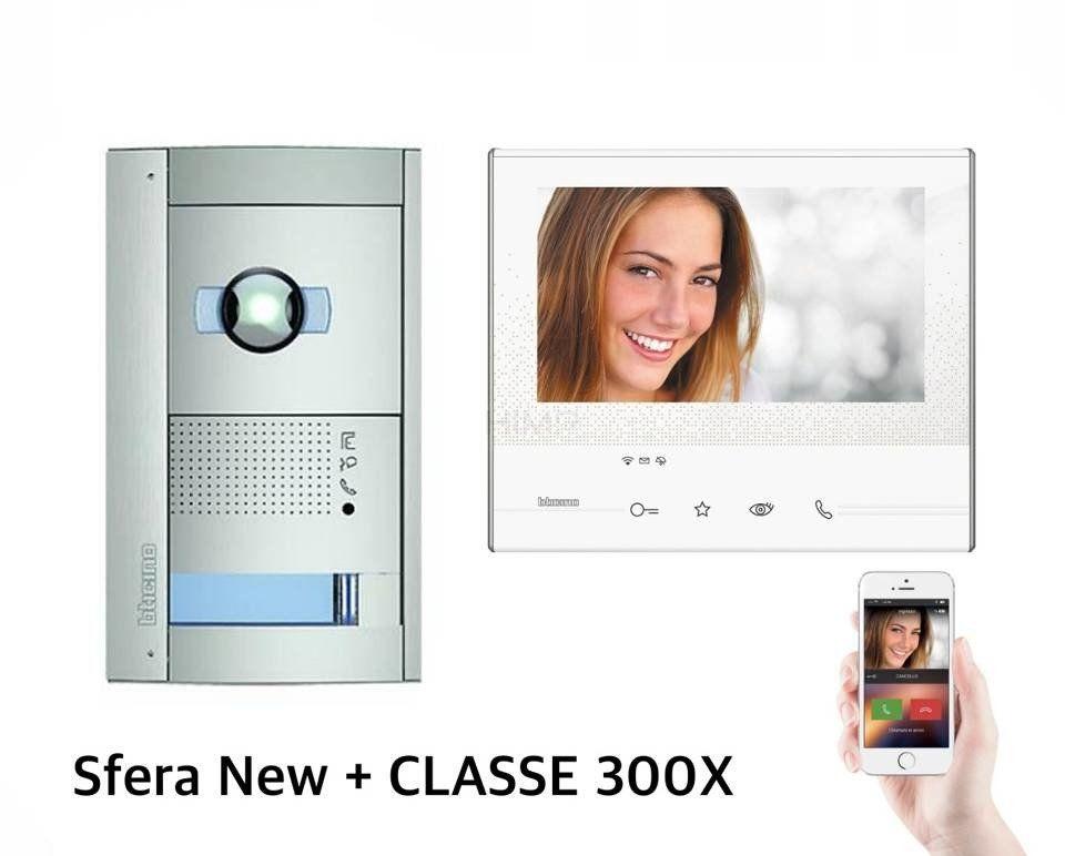 Zestaw wideodomofonowy jednorodzinny biały SFERA New z kamerą DZIEŃ-NOC Bticino 365811