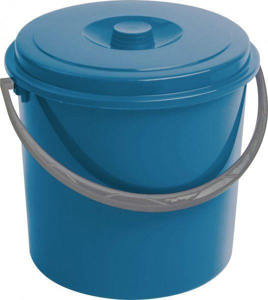 Wiadro 10L z pokrywą niebieskie
