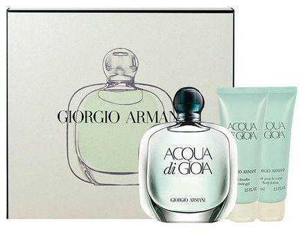 Giorgio Armani Acqua di Gioia - damska EDP 100 ml + mleczko do ciała 75 ml + żel pod prysznic 75