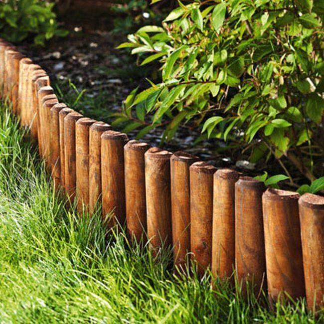 Rollborder strugany 200 x 25 cm fi 60 mm brązowy