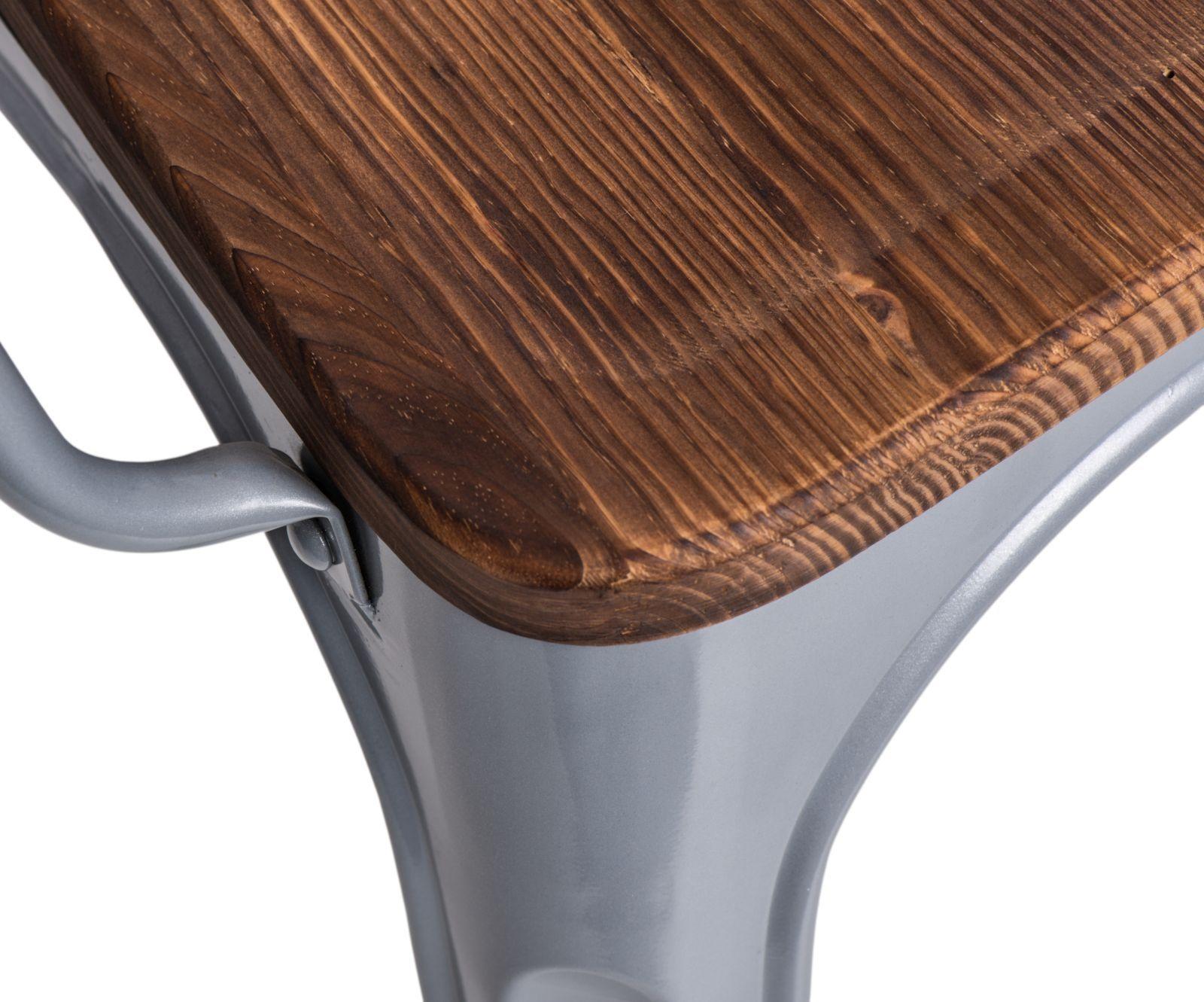 D2 Krzesło Paris Arms Wood srebrny sosna