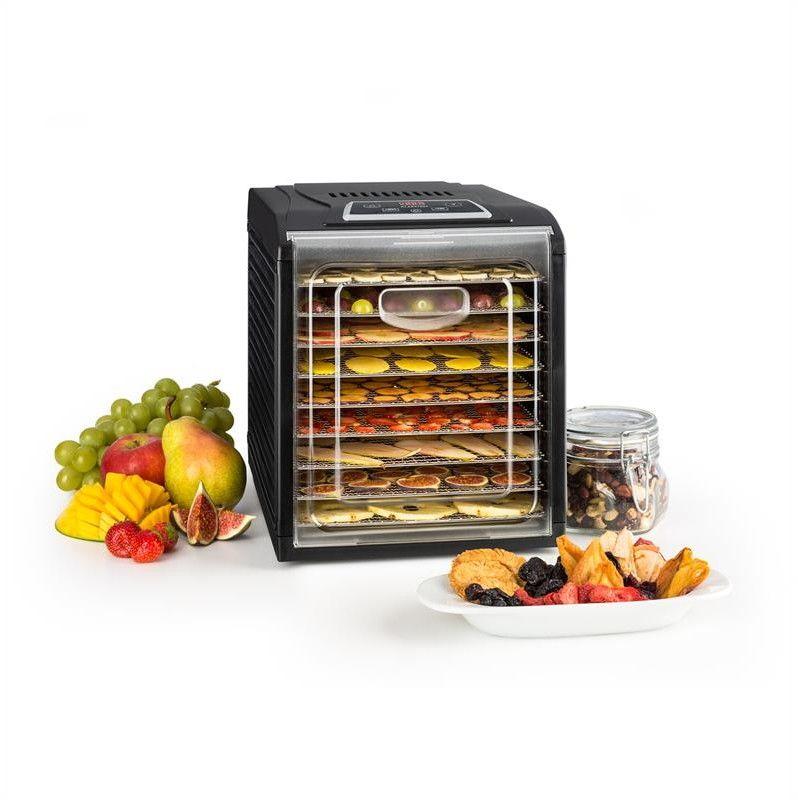 Klarstein Fruit Jerky Plus 9 suszarka do owoców i grzybow 9 poziomów czarna