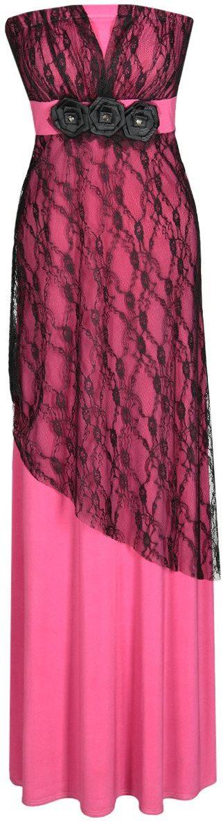 Sukienka FSU141 ŚLIWKOWY CIEMNY
