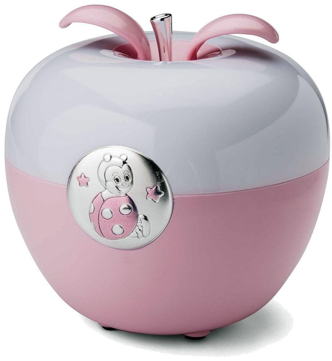 Lampka jabłuszko Biedronka Rozmiar: H 11 Fi 12 cm Kolor: Różowy SKU: VL21153R