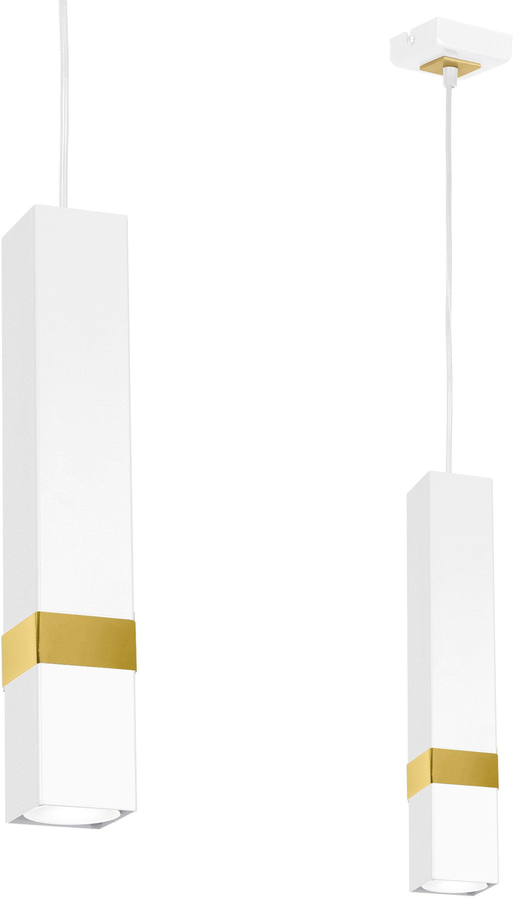 Lampa wisząca Vidar biało złota 1 punktowa zwis MLP6275 - Milagro Do -17% rabatu w koszyku i darmowa dostawa od 299zł !
