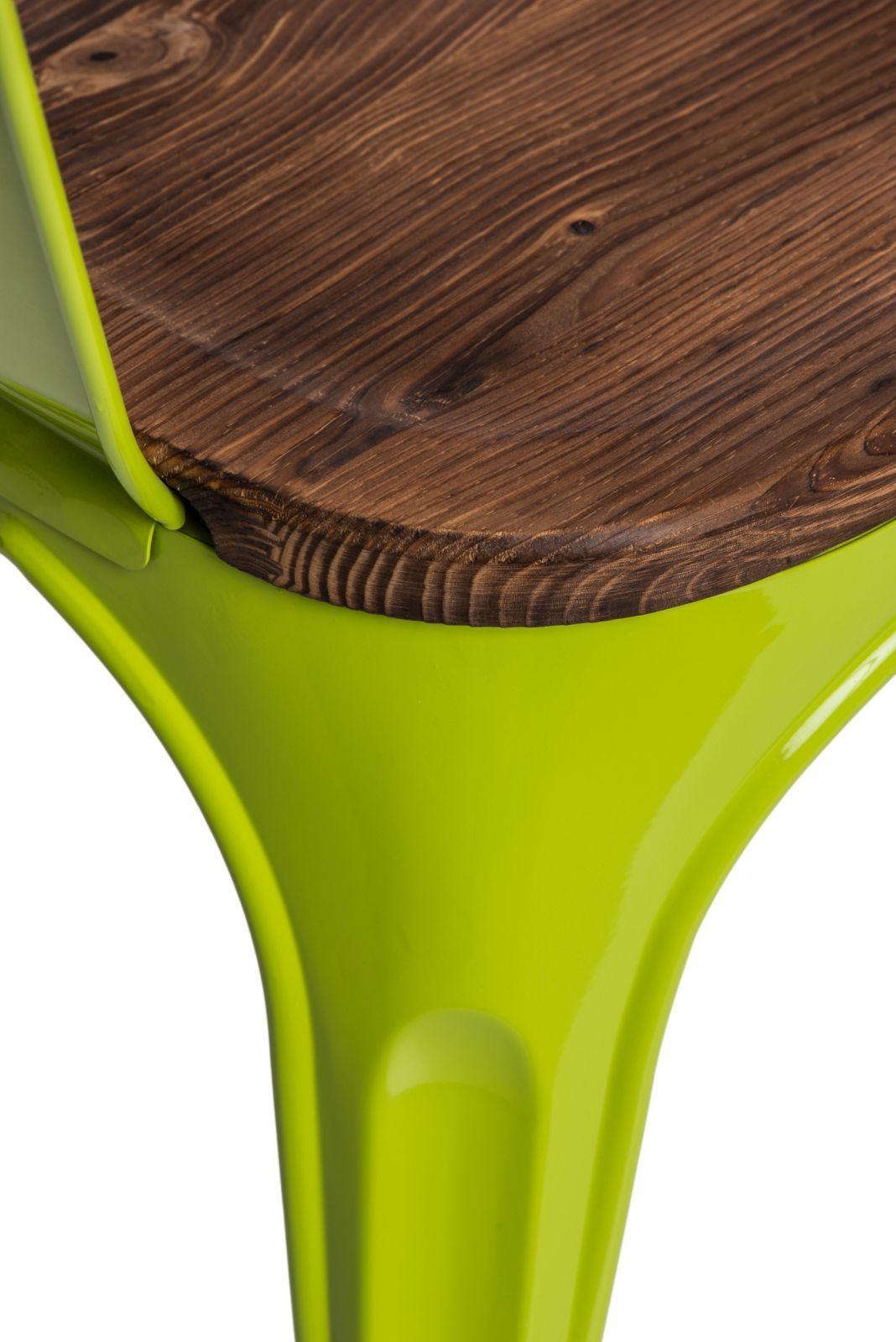 D2 Krzesło Paris Arms Wood ziel jasny sosna