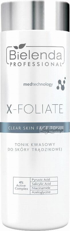 Bielenda Professional - X - FOLIATE Clear Skin Face Toner - Tonik kwasowy do skóry trądzikowej - 200 ml