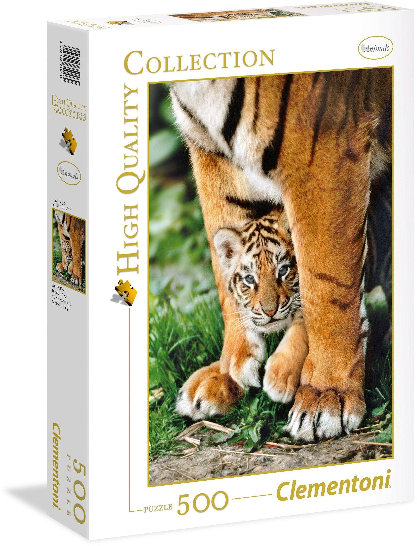 "Clementoni 35046"" Bengalijskie Tigerbaby-HQC puzzle, 500 części"