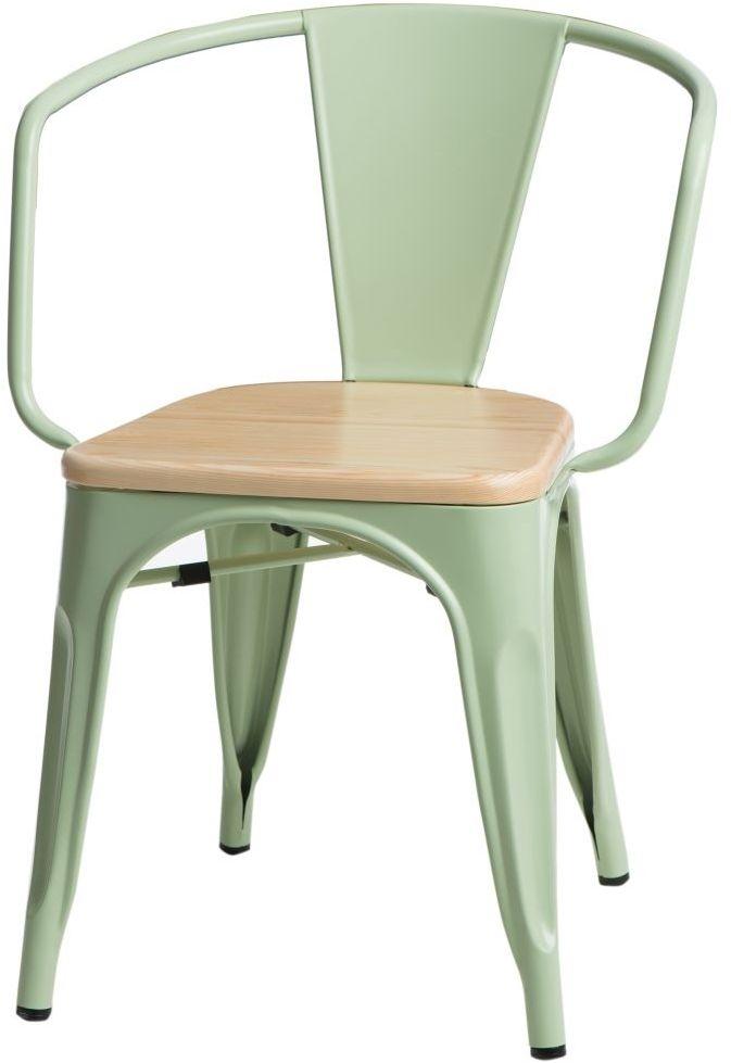 D2 Krzesło Paris Arms Wood zielony sosna