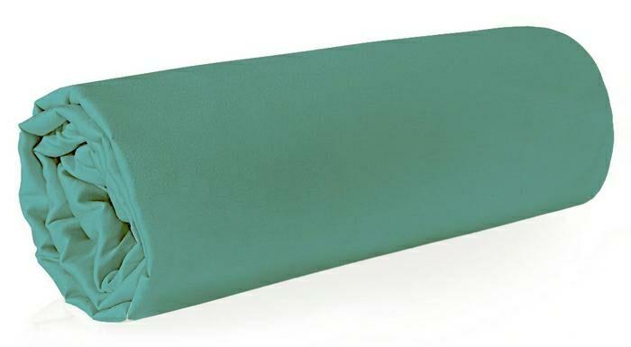 Prześcieradło satynowe 160x210 miętowe jednobarwne bez gumki Nova 3 Eurofirany