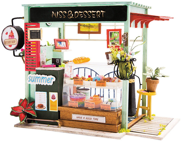 Colorino - Zestaw modelarski Miniaturowy domek Ice Cream Station 37251