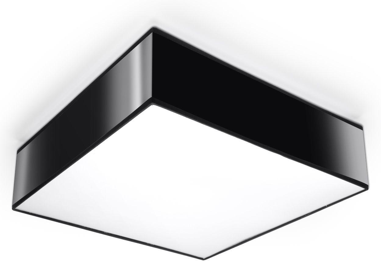 Nowoczesny kwadratowy plafon E796-Horux - czarny