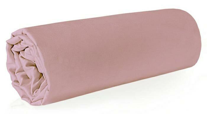 Prześcieradło satynowe 160x210 różowe pudrowe jednobarwne bez gumki Nova 3 Eurofirany