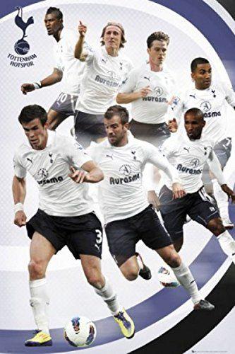 1art1 59180 piłka nożna - FC Tottenham Hotspurs, gracze 11/12 plakat, 91 x 61 cm