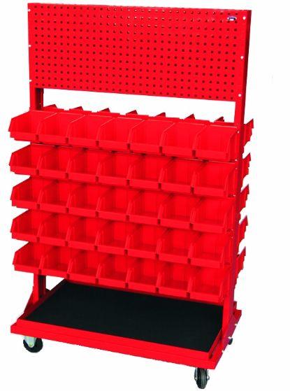 Stojak z kratownicą i 10 listwami na 70 pojemników P3 (dwustronny) P-5-02-02