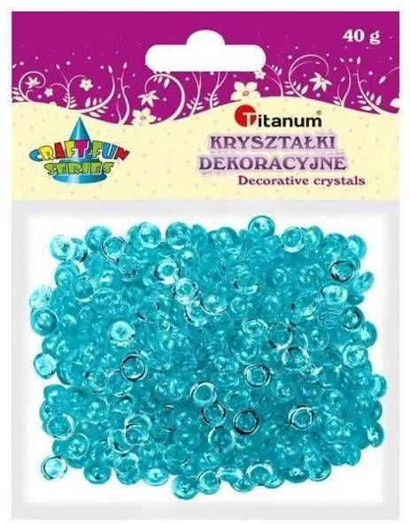 Koraliki plastikowe połówka kuli turkusowe 40g - Titanum