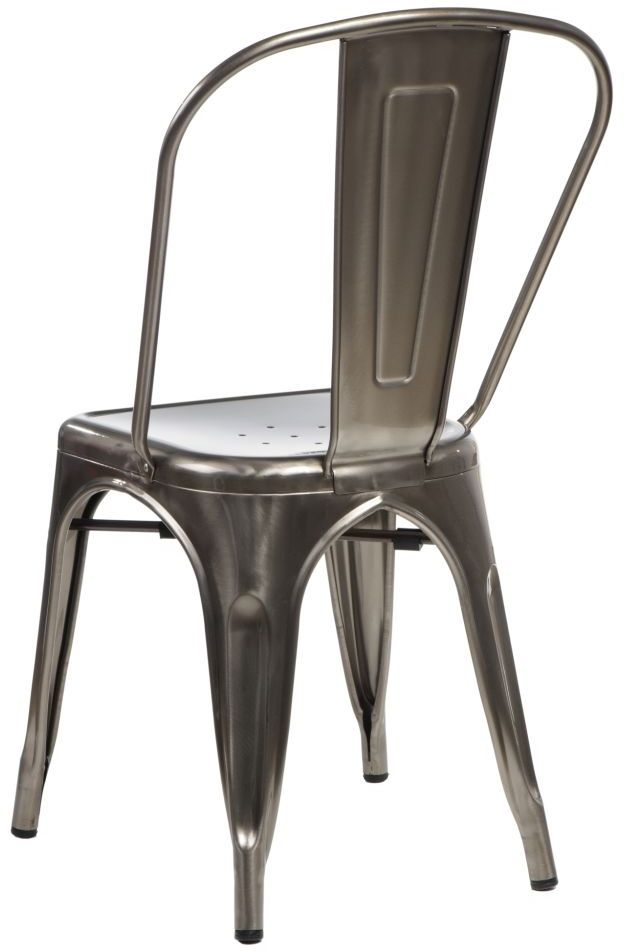 D2 Krzesło Paris metaliczne inspirowa ne Tolix