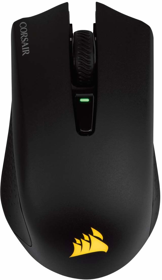 Corsair Harpoon RGB Wireless - Rechargeable Gaming Mouse, Backlit RGB LED, 10000 DPI, Optical - Black